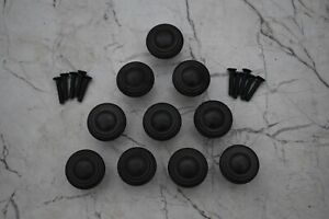 Vintage cast Iron door knobs cabinet round drawer handles pull rustic 10 pcs