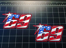 Nicky Hayden 69 USA Flag MotoGP World Superbike 2016 / 17 decals stickers WSBK
