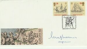 7 APRIL 1992 EUROPA ROYAL MAIL SIGNED FIRST DAY COVER DISCOVERY OF AMERICA SHS