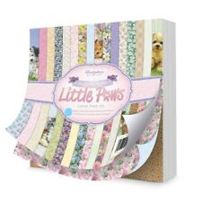 "16 Double Sided Sheets 8"" x 8"" Hunkydory Return of the Little Paws Paper NEW"