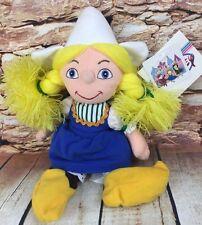 "Disney Store It's A Small World Holland Girl Bean Bag Plush Stuffed Doll 9"""