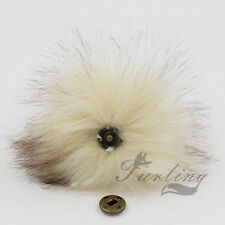 New  5inch Large Faux Raccoon Fur Pom Pom Ball with Press Button