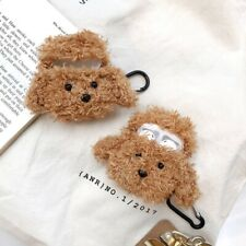 For Apple AirPods Plush Teddy Puppy Dog Protective Case Cover#gsy yMwzV