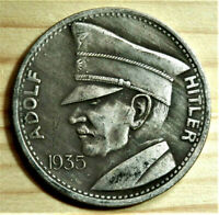 W.W.2 GERMAN COMMEMORATIVE COLLECTORS 5 REICHSMARK COIN '35 AHITLER