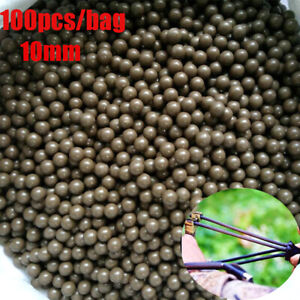 10mm Hunting Ammo  Hot Replacement Mud ball slingshot Balls shooting Catapult
