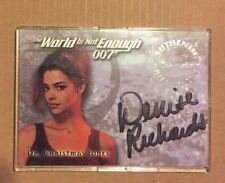 The World is Not Enough James Bond 007 Autograph Card A1 Denise Richards New USA
