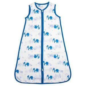 Baby Sleeping Bag Aden & Anais blue Elephant Muslin Sleep Sack Large 12-18 month