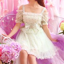 Japanese Sweet Girl Princess Lolita retro bowknot Lace grenadine strapless dress