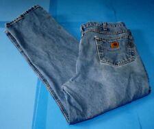 Men's Carhartt Blue Denim Jeans Tag 40x32 Meas 38x30