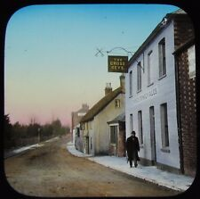 RARE Glass Magic Lantern Slide CROSS KEYS PUB C1910 PHOTO STRONGS BREWERY INN