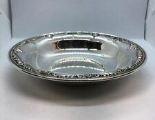 "Wallace Stradivari 4750-9 Fine Sterling Silver Repousse Bowl Dish Plate 10"""