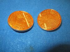 "Gulco Bicycle Round Yellow Reflector Diameter 2-1/4"" With Medal Back - Set of 2"