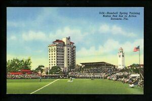 Sports Stadium postcard Baseball Spring Training Boston Red Sox Sarasota FL