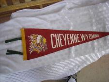 Vintage Cheyenne Wyoming Pennant