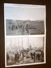 Terremoto Calabria Sicilia 28 dicembre 1909 Ripresa vita Messina Sottoscrizione