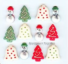 CHRISTMAS COOKIES BUTTONS Christmas Trees Bells Scrapbooking Sewing Card Making