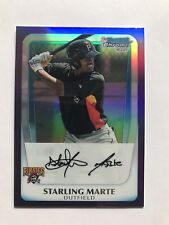 2011 Bowman Chrome Prospects Starling Marte Purple Refractor(#758/799) BCP178