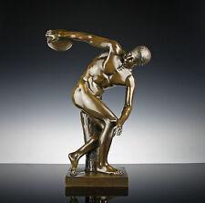 Diskobolus von Myron um 1890 6kg Bronze Skulptur  40cm Diskuswerfer Olympia