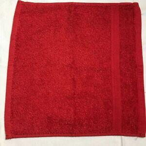 RALPH LAUREN WASHCLOTH RED 100% COTTON 13 X 13 RETAIL-$14  NWT