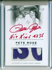 2011 LEAF PETE ROSE LEGACY 7/10 RARE AUTO 2 COLOR PATCH REDS EXPOS PHILLIES 1/1?