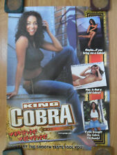 Sexy Girl Beer Poster King Cobra ~ Whatever Whenever Ready If You Brought Cobra