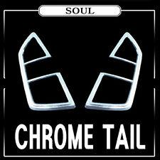 Chrome Rear Tail Light Lamp Cover 2p Set For 08 09 10 11 Kia Soul