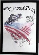 Hunter Thompson~SIGNED~Where the Buffalo Roam~UNIQUE!! + Photos!! ~ Movie Poster