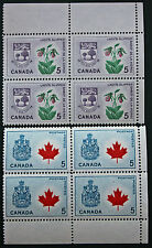 Timbre / Stamp CANADA - Yvert et Tellier n°349 x4 et 355 x4 n** (cyn7)