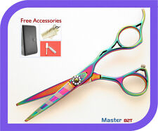 Hair Cutting Scissors, PROFESSIONAL HAIRDRESSING HAIR SCISSORS, Titanium - 5.5""