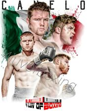 Saul Canelo Alvarez Boxing Poster White 4LUVofBOXING New 11x17