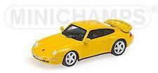 Porsche 911 Turbo 1995 jaune - Minichamps - Echelle 1/87 (Ho)
