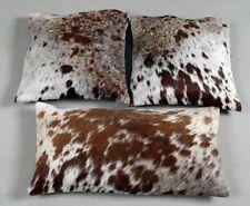 Natural Cowhide Pillow Cover Cushion Cowhide Hair ON Cover Set of 3 Cushion E149
