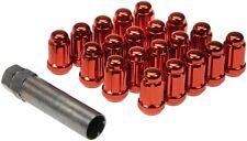 82-02 CAMARO Z28 FIREBIRD TA NEW LUG NUTS RED SPLINE DRIVE LOCK DESIGN 711-355E