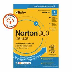 Norton 360 Deluxe 2021 3 App 3 PC 1 an PC MAC Internet Security FR EU 2020