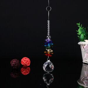 Rainbow Chakra Suncatcher Crystal Ball Prisms Hanging Window Pendant Home Decor