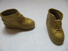 Ken Doll Clothes Fashionista~Gold High Hi Top Sneakers Tennis Shoes Faux Lace-UP
