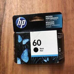 NEW Genuine HP 60 Black Ink Cartridge SEALED  Exp 2022