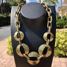 Chunky Cable Chain Necklace Thick Brutalist Brass Coldwater Creek Statement