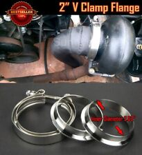 """T304 Stainless Steel V Band Clamp Flange Assembly For  BMW 2"""" OD Exhaust Pipe"""