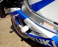 Suzuki GSXR 600 K1 K2 K3 2001-2003 R&G Racing WHITE classic crash protectors