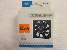 NEW! Deep Cool 60mm 4 Pin Molex  Case Cooling fan (DC6015L12H 4P)