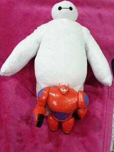 "12'' BIG HERO 6 Baymax ROBOT  Soft plush Doll & 7"" plastic figure"