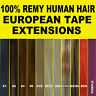 TAPE SKIN WEFT FULL HEAD REMY HUMAN HAIR EXTENSIONS 40PCS Brown Blonde Black