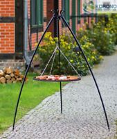 Korono Dreibein Schwenkgrill mit Kurbel, Rost Ø 90 cm, Höhe 200 cm, Handmade