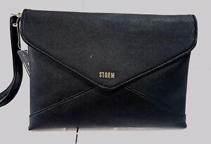 Storm Harriet Envelope Clutch Bag Black