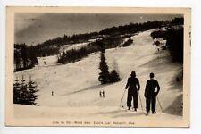 CANADA carte postale ancienne QUEBEC Mont sain castin lac beauport cote de ski