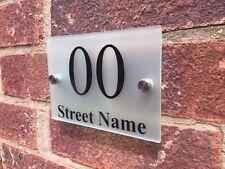 Moderno porta numero / indirizzo PLACCA vetro acrilico satinato Outdoor camera sign