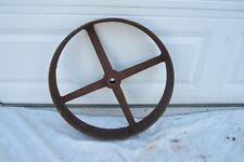 Antique Barn Metal Wagon Wheel Buggy Cast Iron Plow Horse Tractor Home Garden