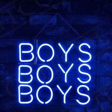 "BOYS  BOYS  BOYS HOME LAMP Door Art Bar Beer Club POSTER NEON LIGHT SIGN 9""X9"""
