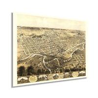 HISTORIX Vintage 1868 City of Fort Wayne Indiana Map